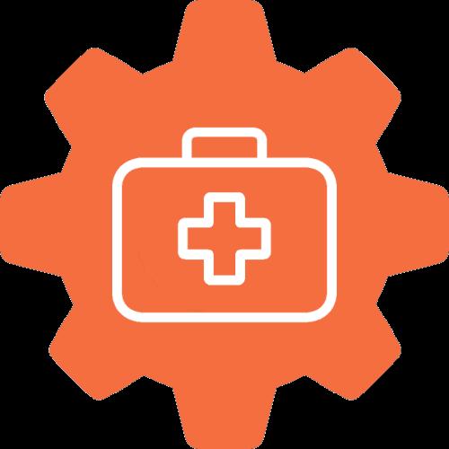 Emergencies gear icon