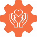 Special needs care gear icon